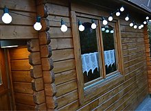 KEEDA Frosted Festoon Bulb String Lights, 20LED