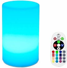 KEEDA LED Night Lamp, Color Changing Cylinder