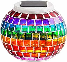KEEDA Mosaic Solar Lights Color Changing Lamp