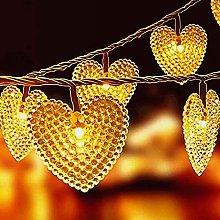 KEEDA Outdoor String Lights, Heart Solar String