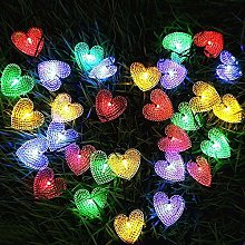 KEEDA Outdoor String Lights, Heart Solar String