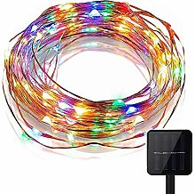 KEEDA Solar Copper Wire Lights,100LED 8 Mode