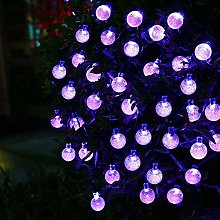 KEEDA Solar Crystal Ball String Lights, 30 LED