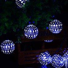 KEEDA Solar Powered 20 LED Moroccan Iron Globe