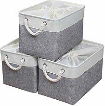 KEEGH Storage Basket Fabric Storage Bin with Lids