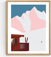 Keeler & Sidaway - 'Ski Chalet' Wood