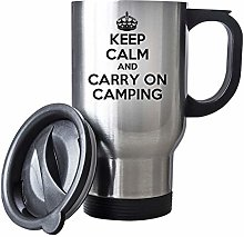Keep Calm and Carry On Camping Travel Mug Thermal