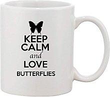 Keep Calm and Love Butterflies Animal Lover