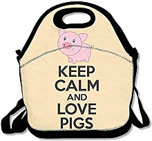 Keep Calm and Love Pigs Reusable Ziplock Crossbody