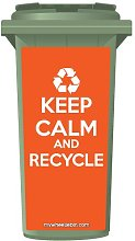 Keep Calm And Recycle Wheelie Bin Stickers Panel