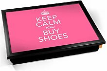 Keep Calm Buy Shoes Pink Cushioned Bean Bag