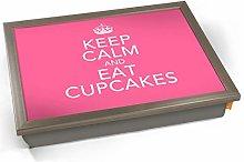 Keep Calm Eat Cupcakes Cushioned Bean Bag