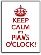 Keep Calm Pimm's O'clock Wall Sign