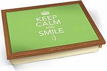 Keep Calm Smile Cushioned Bean Bag Breakfast Bed