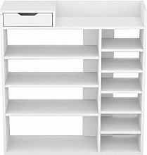 KEEPREAPER White 4 Tier Shoe Rack Organiser for