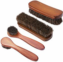 KEESIN Shoes Polish Brushes Wood Horsehair