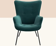 Keira Armchair Hykkon Upholstery Colour: Bottle