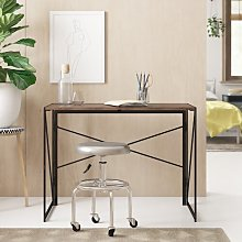Keira Desk Zipcode Design Colour: Dark Brown