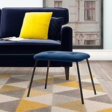 Keira Footstool Hykkon Upholstery Colour: Navy Blue
