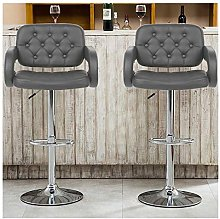 KEIT Bar Stools, Comfortable Pu Leather Chair