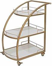 KEKEYANG Storage Metal Dining Cart Commercial