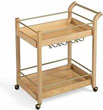 KEKEYANG Storage Solid Wood Dining Car Wrought