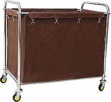 KEKEYANG Storage Trolley On Wheels Hotel Laundry