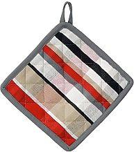 kela Oven Cloth Tabea with Square-Motive 20x20cm