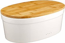 kela Salena Ceramic Bread Bin – White, 37 x
