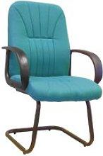 Kelburn Fabric Visitor Chair, Green