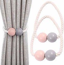 Keleily Magnetic Curtain Tiebacks 2Pcs Curtain