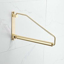 Kelelife Clothes Hanger Folding Coat Rack Gold