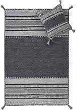 Kelim Charcoal Cushion Modern Rug