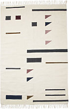 Kelim Triangles Rug - Large - 140 x 200 cm by Ferm