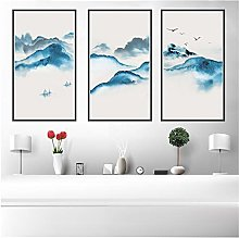 Keliour Chinese Canvas printing Traditional White