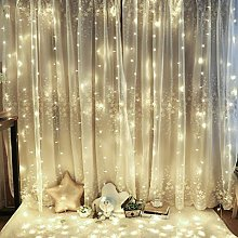 KELITE Curtain Lights, 300LEDs Fairy String Lights