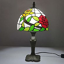 KELITINAus Style 8 inch Table Lamp Retro Stained