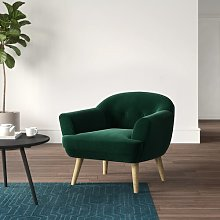 Kellen Tub Chair Hykkon Upholstery: Dark green