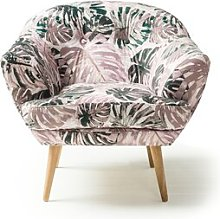 Kellen Tub Chair Hykkon Upholstery: Lilac/Green