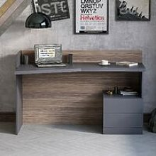 Kelvin Desk Space Saving Side Table - with Drawers