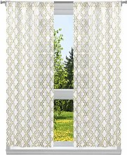 Kelvin Metallic Gate Window Curtain Set,