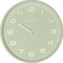 Kemble 30cm Wall Clock Henley Colour: Sage Green