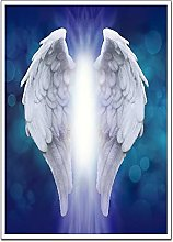 Kemeinuo Art Print Background with Angel Wings Art