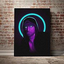 Kemeinuo Art Print Eminem Neon Cool Design Poster