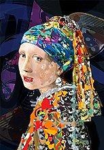 Kemeinuo Art Print Girl with a Pearl Earring