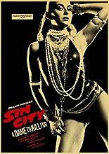 Kemeinuo Art Print Sin City Retro Poster Vintage
