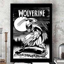 Kemeinuo Art Print Wolverine Black and White Comic