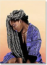 Kemeinuo Wall Art Fashion Black Girl Poster and