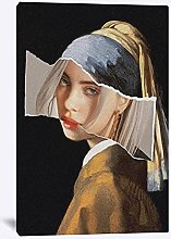 Kemeinuo Wall Art Girl with Pearl Earrings Poster