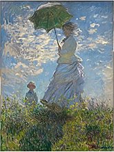 Kemeinuo Wall Art Woman with A Parasol By Monet